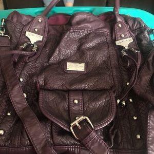 Purple leather purse